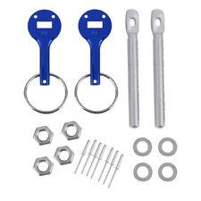 Aluminium Haubenhalter Schnellverschluss Racing Kapuze Bonnet Pin Set Blau