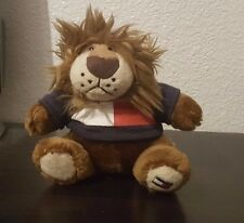 "Tommy Hilfiger Plush Stuffed Brown Lion Bear Mini 4""  Blue Red Sweater H Navy"