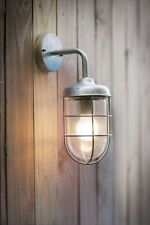 Stylish Garden Trading Outdoor Wall Light Harbour Modern St Ives Galvanised