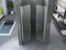 Porta doccia apertura saloon in cristallo trasparente doppia porta battente | mm