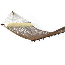 Sunnydaze 2-Person Polyester Indoor-Outdoor Patio Spreader Bar Rope Hammock