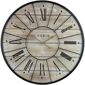 Sorbus Paris Oversized Wall Clock, Centurion Roman Numeral Hands, Parisian...