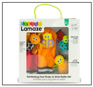 NEW Lamaze Gardenbug Foot Finder & Wrist Rattle Set