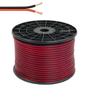 50m Lautsprecherkabel 2x2.5 mm² Boxenkabel Zwillingslitze Anlage Kabel 2 x 2.5