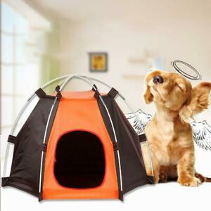 Tent Dog Outdoor Pet House Portable Bed Cat Indoor Puppy Teepee Large Cage Crate
