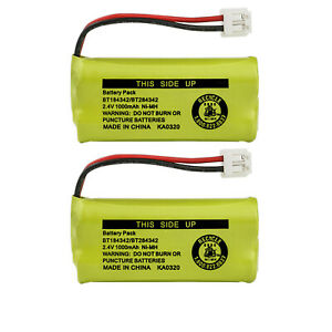 Kastar 2-Pack Battery BT184342 BT284342 for AT&T Vtech GE RCA and Clarity Phone