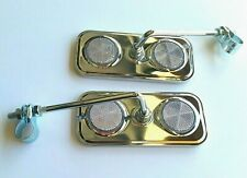 Bicycle  Rectangle Mirrors With Colorless Reflector  2 Pcs one Pair