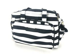 JuJuBe BFF The First Lady Diaper Bag Backpack Black/White Stripes - COMPLETE