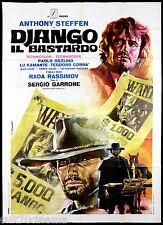 DJANGO IL BASTARDO MANIFESTO CINEMA SERGIO GARRONE WESTERN 1969 MOVIE POSTER 4F