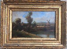 Van HERMEER ou HEMMEER ?? Style EC Holl XIXème Paysage troupeau moulin,étang HSP