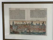 Original Magdeburg Holzschnitt aus der Schedels Weltchronik / Nürnberg 1493