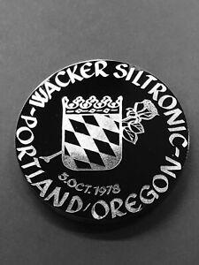Wacker Siltronix Silicon Medallion with Case, Portland Oregon 10/5/78, Boule