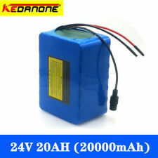 24V 20Ah Li-ion Battery Volt Rechargeable Bicycle 350W E Bike Electric + Charger