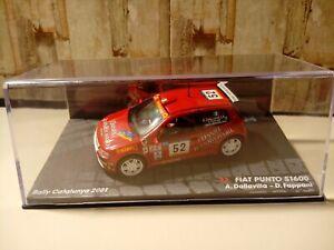 Modellino Die Cast Fiat Punto S1600 Rally Catalunya 2001 Scala 1/43