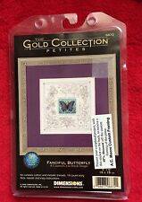 Dimensions The Gold Collection Petites Fanciful Butterfly Cross Stich Kit RARE