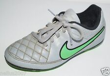 Older Boys Football Boots Nike Tempo Grey Traiers Size 1 Moulded Studds Lace Ups