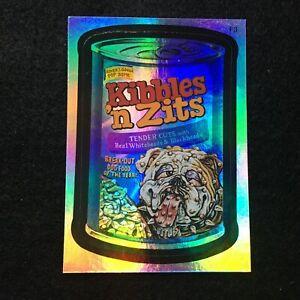 2006 TOPPS WACKY PACKAGES ANS3 3 RAINBOW FOIL STICKER KIBBLES N ZITS F3 DOG JOKE