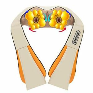 New Shiatsu Pillow Massager with Heat Electric Back Shoulder Neck Massage Shawl