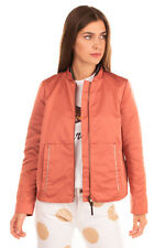 RRP €280 MALIPARMI MUST Bomber Jacket Size 44 Full Zip Ribbed Made in Italy