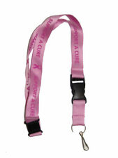 "32"" Breast Cancer ""Support A Cure"" Pink Ribbon Lanyard With Detachable Key Ring"