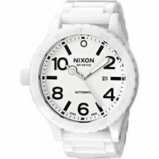 Nixon Men's Ceramic 51-30 Swiss Automatic White Watch Brand New A147-126-00