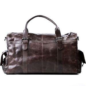 Reisetasche Leder Ashton Weekender XL Sporttasche Herren Schulter Tasche braun
