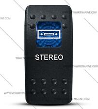 Labeled Contura II Rocker Switch COVER ONLY, Stereo  (Blue Lens)