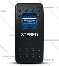 Labeled Contura II Rocker Switch Cover ONLY, Stereo  (Blue Window)