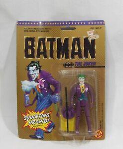 TOY BIZ 1989 JOKER ACTION FIGURE NEW ON CARD SQUIRTING ORCHID BATMAN DC COMICS