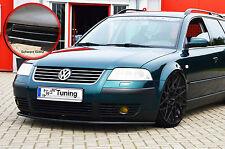 Frontspoiler für VW Passat 3BG Spoilerschwert Cuplippe ABS ABE schwarz glänzend