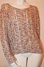 Denim & Supply Ralph Lauren Black Loose Knit Design Sweater Sz L NWT $89.50