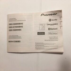 Pioneer CD RDS Receiver Radio Instruction Manual DEH-X8800BHS,X7800BHS,X6800BS