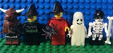 Lego Minifigs Ghost Witches Bat Skeleton Minotaur Lot 5 Minifigures