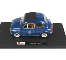 Burago 1:24th Blue color 1965 Fiat 500F Car Vehicles Model Collection