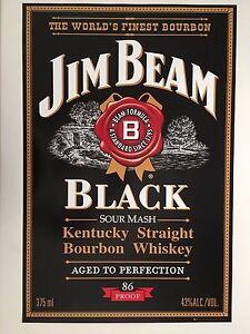 JIM BEAM BLACK,AUTHENTIC 2008 POSTER