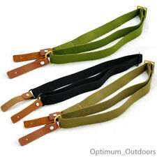 Heavy Duty Canvas 2 Two Point Rifle Gun Sling with Leather Hooks Hunting Shotgun