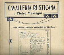 Spartito Musicale Cavalleria Rusticana Mascagni Pianoforte Intermezzo Sinfonico