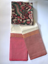 South Cotton pure handloom saree Rain Collection Design 11 white with baby pink