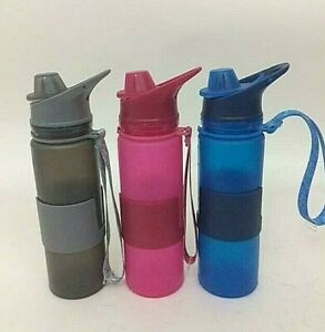 Collapsible Water Bottle - BPA Free Leak Proof Silicone Folding Bottle 3 colours