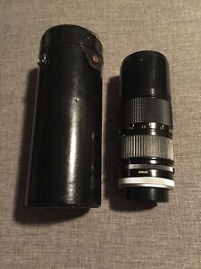 Canon FD 80-200mm 1:4 S.S.C. Zoom Lens Japan With Case Excellent Condition