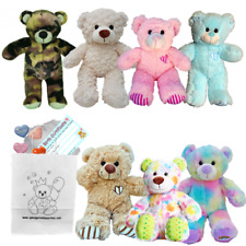 """Have Your Own 8""""/20cm Build a Teddy Bear Making Party - no sew - great fun!"""