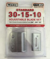 WAHL STANDARD BLADE SET 30-15-10 Multi Cut Clippers 0.8mm-2.5mm 1037-400