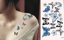 NiX T06 Temporary Tattoo Waterproof Butterfly Color Tattoo Body 17 Stickers in 1