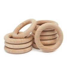 10Pcs Baby Wooden Teething Rings Bracelet Necklace Crafts Natural KitG