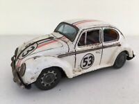 VW Bug Beetle 53 Herbie Tin Made In Japan 1966, 9 Inches Very Rare