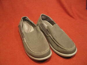 Crocs Santa Cruz Mens Loafers - GRAY SIZE 13