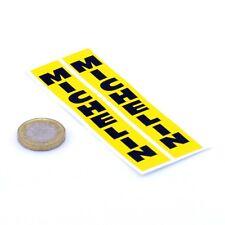 Michelin Stickers Vertical Jaune & Noir Classique race bike Fourche Vinyle 100 mm x2
