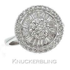 Diamond Cluster Ring 1.20ct Brilliant Cut F VS set in 18ct White Gold