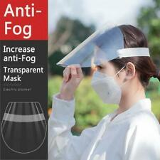 2PC Transparent Full Face Shield Safety Protective Cap Anti-Saliva Hat Cover US