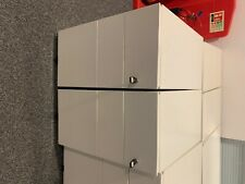 More details for metal office desk drawers white used lockable